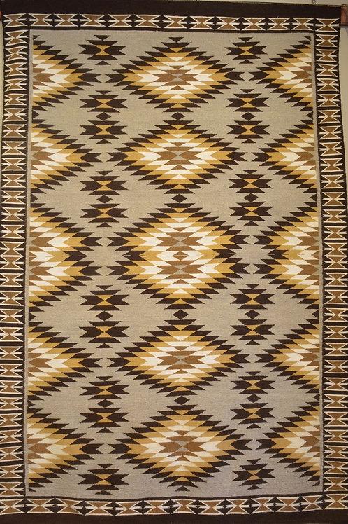 """Annette Bahe Begay - Teec Nos Pos Navajo Weaving - 87"""" X 57"""""""