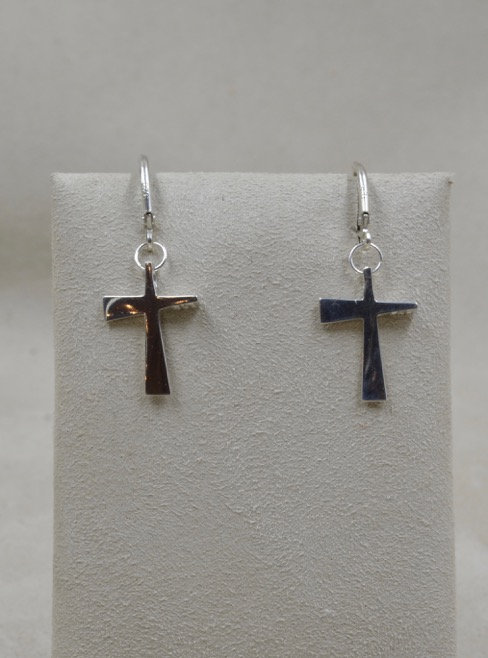 Sterling Silver Petite Trinity Cross by Charles Sherman