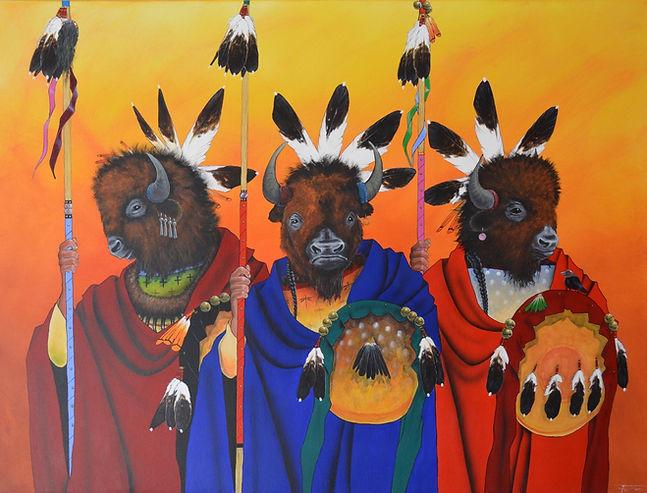 Buffalo Painting by Navajo Artist Yellowman