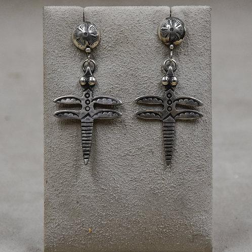 Dragonfly Ingot Sterling Silver Wire Earrings by Buffalo