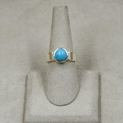 Sleeping Beauty Turquoise and Sterling Silver 7.25x Ring by John Paul Rangel