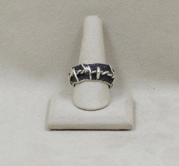 Barbed Wire Bands Ring 14X & 12X by JL McKinney