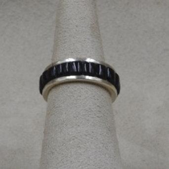 Cobbled Black Onyx 5X Ring by Michael and Cuasandra Dukepoo