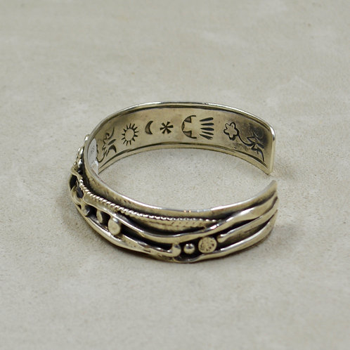 Hand Forged Sterling Silver Arroyo Seco Cuff by Robert Mac Eustace Jones