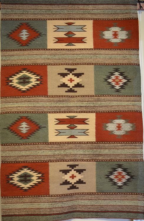 "P Squares Zapotec Weaving - 80"" X 49"""