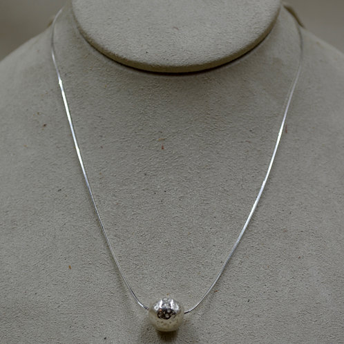 Sterling Silver Hammered Eunity Necklace by Sippecan Designs