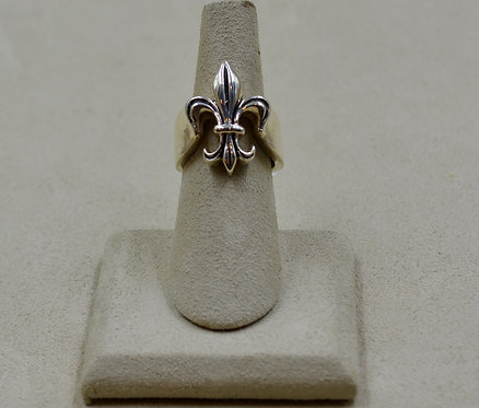 Sterling Silver Fleur de Lis 6.5x Ring by JL McKinney