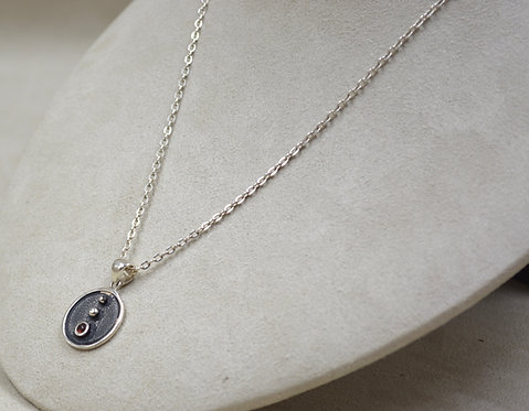 Bindu Mindfulness w/ Garnet Necklace on Chain by Roulette 18