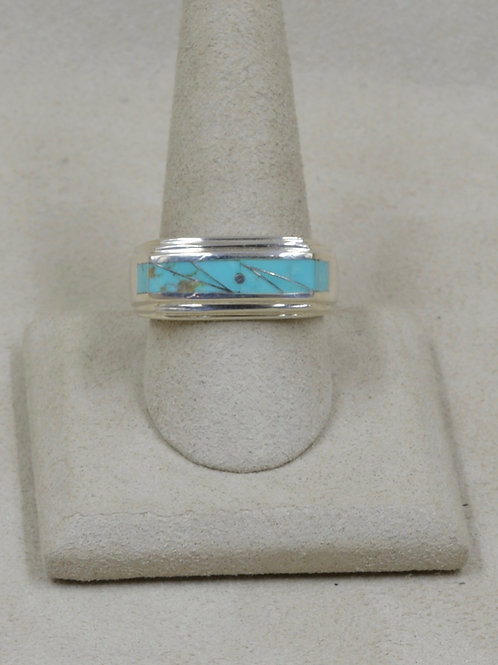 Campitos Turquoise & Sterling Silver 12x Ring by GL Miller Studio