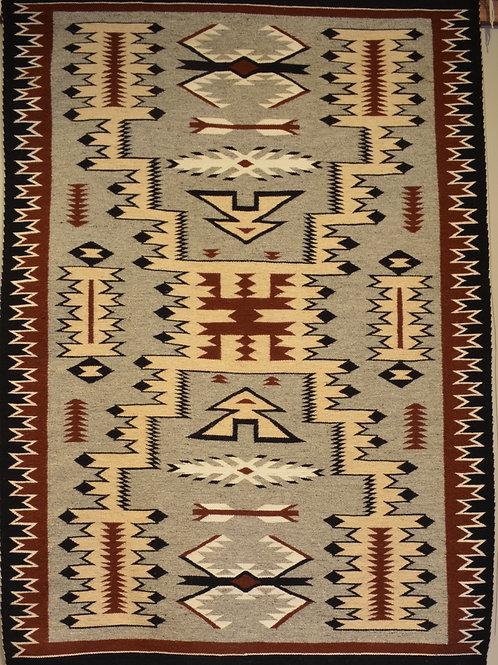 """Zapotec Storm Pattern Weaving - 96"""" X 60"""""""