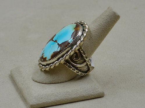 Baby Blue Turquoise & Sterling Silver 10x Ring by James Saunders