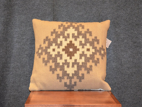 "Set of 2 Fino Beige Zapotec Pillows - 20"" X 20"""