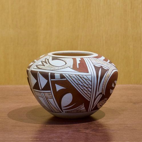 """Medium Hopi Bowl - 4""""H x 5 3/4""""D - by Loretta Navasie"""