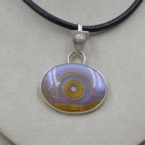 Purple Agate & Sterling Silver Pendant by Joe Glover