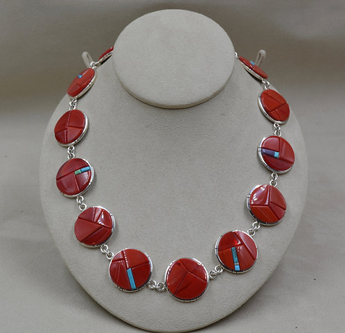 Rosarita, Sugilite, Kingman & Cripple Creek Turquoise Necklace by Dukepoo