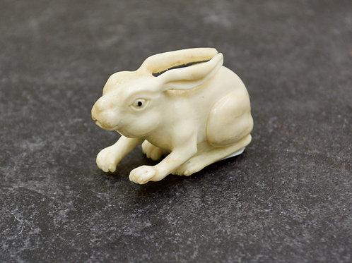 "Moose Antler Bunny 2 1/8 "" X 1 1/8"" by Artifactual"