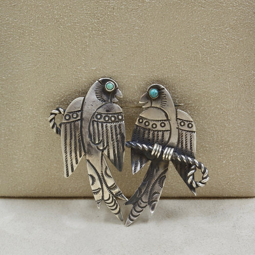 Hand Forged Parrot Pin w/ Vintage Design by Red Rabbit Trading