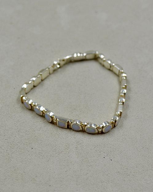 Lab Opal Multi-Shaped Tennis Bracelet by Peyote Bird Designs