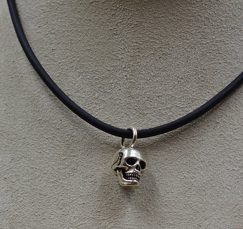 All Sterling Silver Small Skull Pedant by JL McKinney