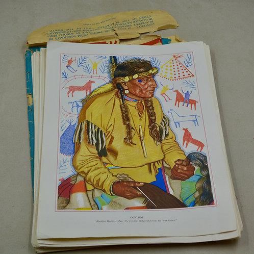 "46 Lithographic Prints - Copywrite 12"" x 9"" ea"