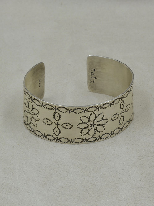 Sterling Silver Stamped Cuff by Jacqueline Gala