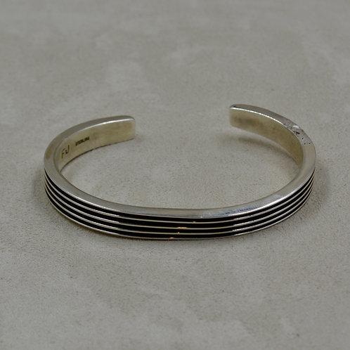 Oxidized Sterling Silver 4 Row Cuff by Frances Jones