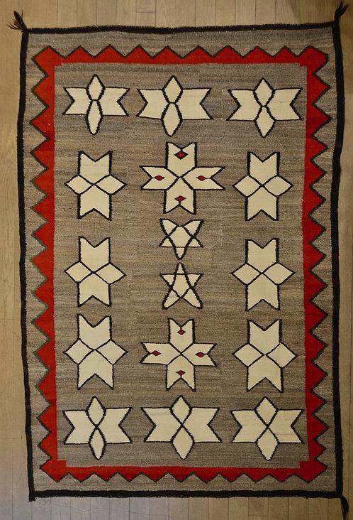 Star Pattern Vintage Navajo Weaving 71 Quot X 51 5 Quot Truewest
