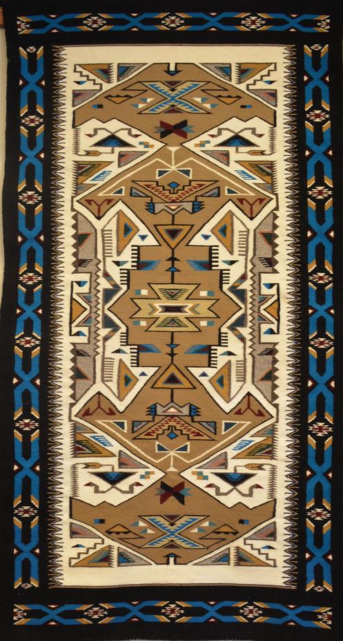 Teec Nos Pos Navajo Weaving 83 Quot X 43 Quot By Elsie Begay