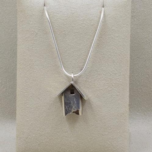 Sterling Silver Little Birdhouse Pendant by Richard Lindsay