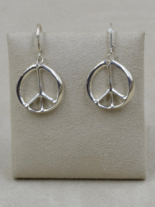 Sterling Silver Religion of Peace Earrings by Charles Sherman
