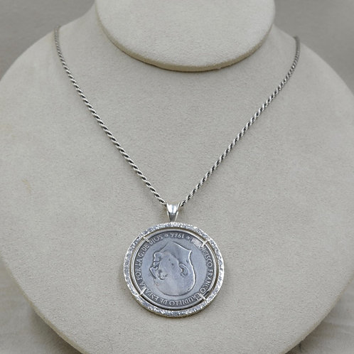 Sterling Silver Cast Spanish Coin by Michele McMillan