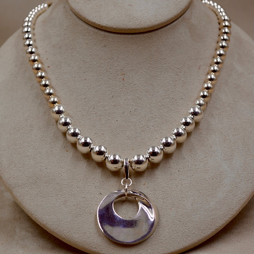 Graduated S. Silver Necklace w/ SS Infinity Enhancer by Sippecan Designs