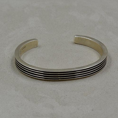 Oxidized Sterling Silver 5 Row Skinny Cuff by Frances Jones