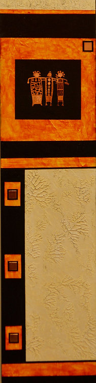 """Celebration"" Acrylic/Mixed on Panel - 32"" x 8"" - by Marilyn Jennings"