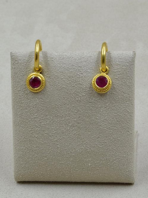 22k Gold Large Hoops (Only) Earrings by Pamela Farland