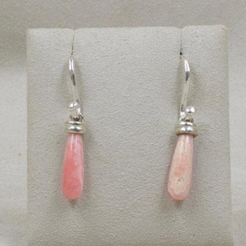 Rhodocrosite & Sterling Silver Earrings by Michele McMillan