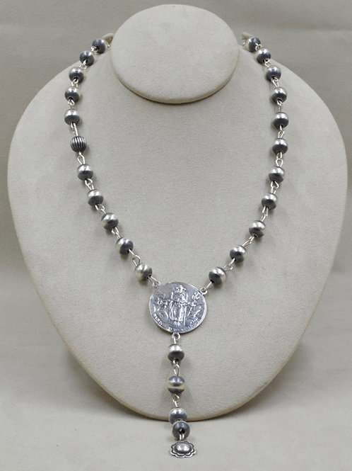 Sterling Silver Santo Nino Necklace by Shoofly 505