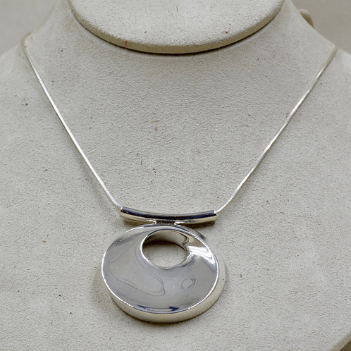 Sterling Silver Resplendent Serenity Necklace on SS Chain by Charles Sherman