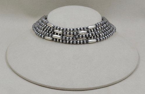 Sterling Silver 5 Strand Choker Necklace by Shoofly 505