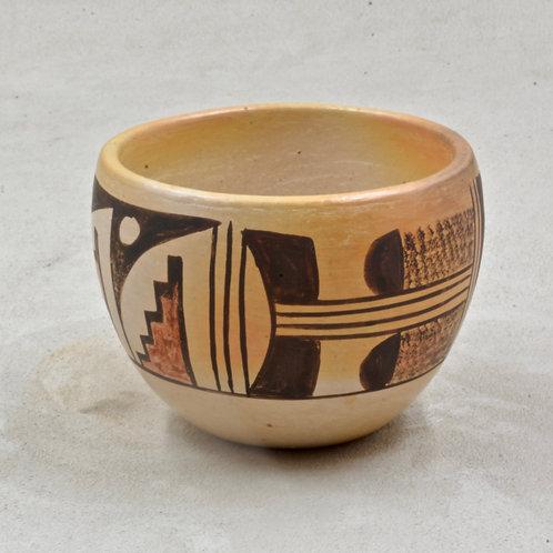 Hopi Pueblo Bowl by Cloris Augah, 1978