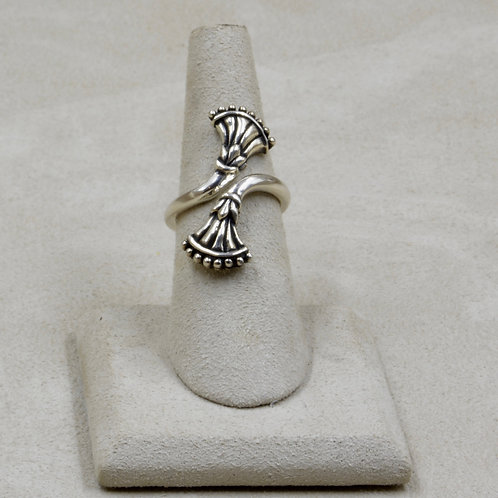 Egyptian Wrap Lotus Wrap Sterling Silver 8x Ring by Roulette 18