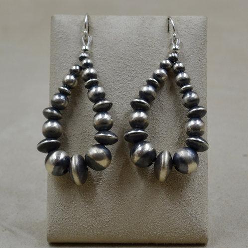Oxidized Sterling Silver Medium Teardrop Earrings by Shoofly 505