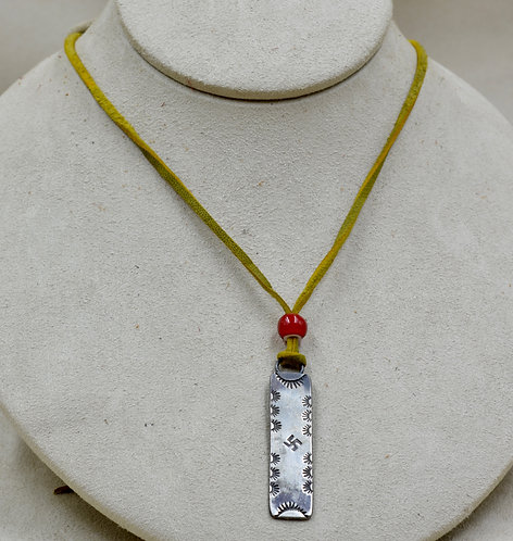 Long Sterling Silver Ingot Necklace w/ Image by Red Rabbit Trading Co.