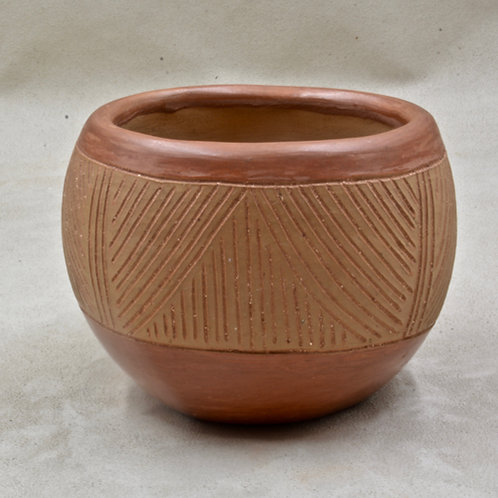 San Juan Pueblo Pot by Tomisita Montoya, 1966