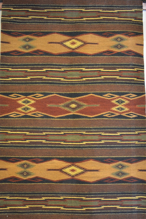 "Mohair Panel Geometric Zapotec Weaving - 78"" X 50"""