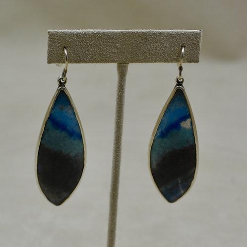 Brazilian Demoreorite, Quartzite, Lazulite Earrings by Jerry Faires