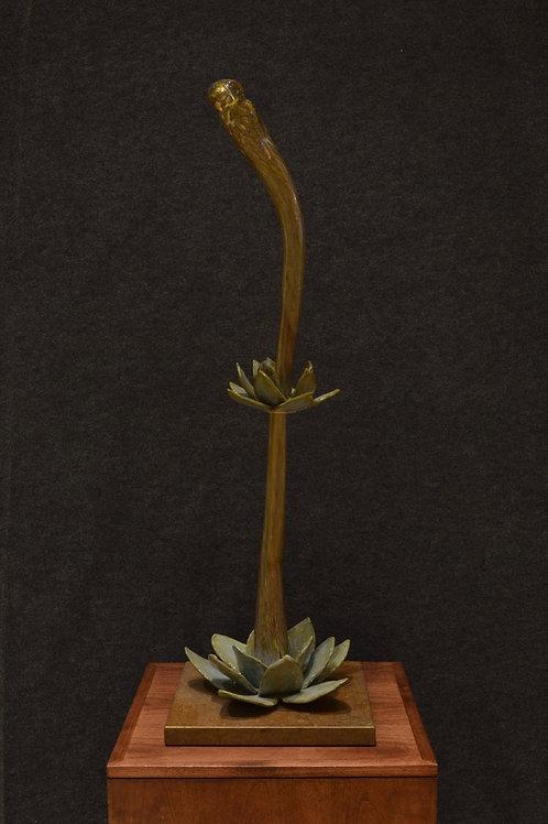 """Knobby Agave"" Glass Sculpture by Rosemary Lonewolf/Tony Jojola"