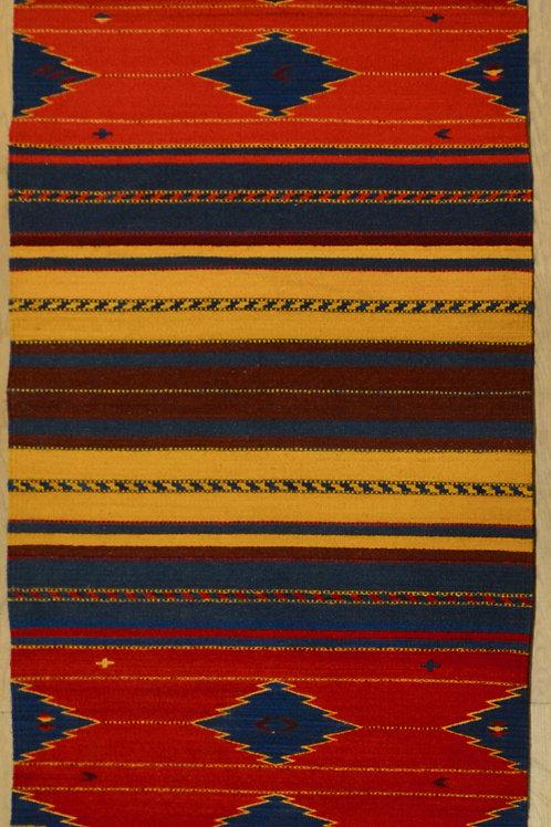Navashan Large Floor Runner, 3' x 10', by Sergio Martinez - Zapotec