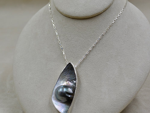 Large Mabe Pearl on Sterling Silver Chain by Michele McMillan