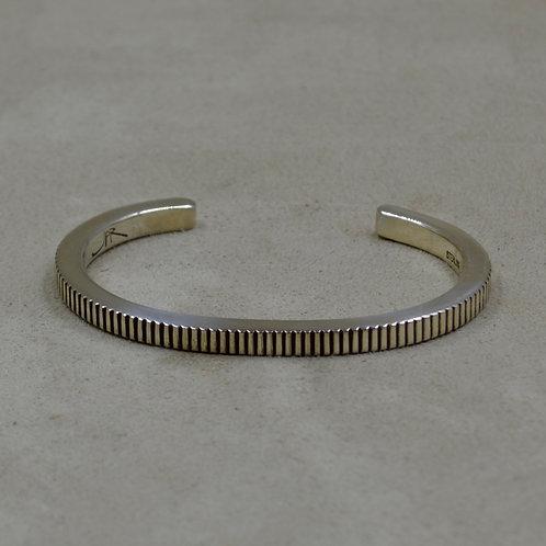X-Small Sterling Silver Coin Edge Stacker Cuff by John Paul Rangel